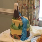Mountain, Waterfalls,Trees, Nature Groom's cake